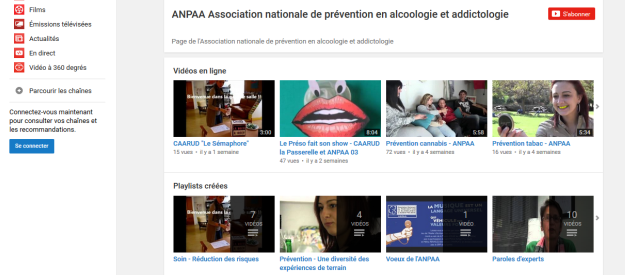 Addiction  - L'ANPAA lance sa chaîne Youtube et son compte Pinterest !