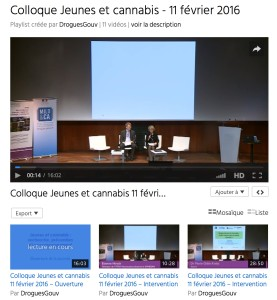 videos colloque mildeca cannabis