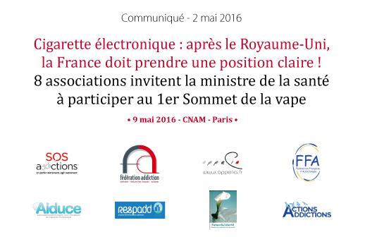 Addiction Tabac - Cigarette électronique : après le Royaume-Uni, la France doit prendre une position claire !