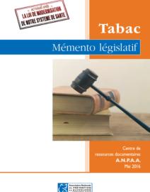 Mémento législatif Tabac