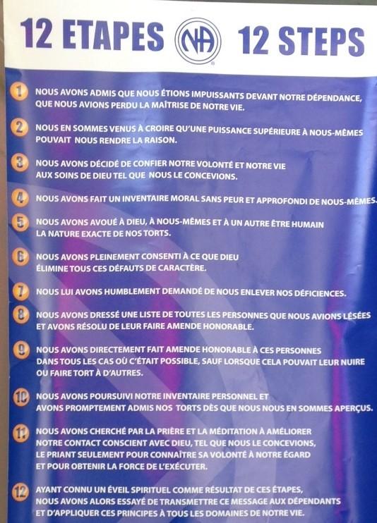 12 étapes des NA