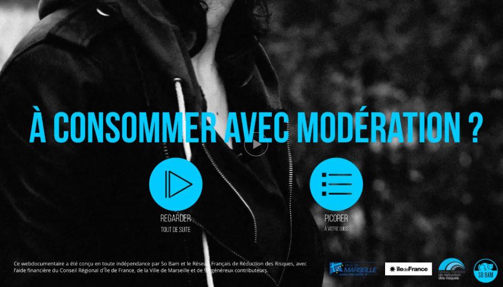 """Addiction  - Web documentaire / """"A consommer avec modération ?"""" Conçu par l'équipe de So Bam et le Réseau Français de Réduction des Risques"""