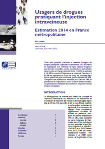 Addiction Autres drogues - Usagers de drogues pratiquant l'injection intraveineuse – Estimation 2014 en France métropolitaine