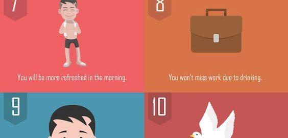ALCOOL / 15 bonnes raison d'arrêter en une infographie