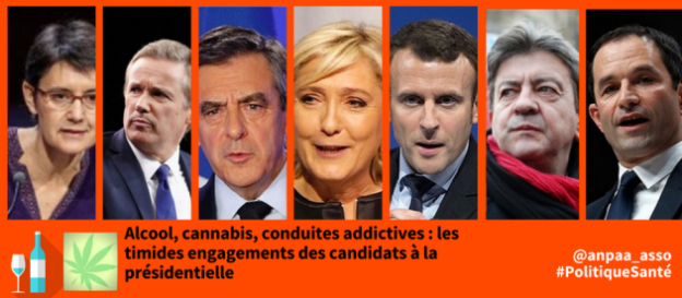 Addiction Alcool - 19 avril 2017 - Alcool, cannabis, conduites addictives : les timides engagements des candidats à la présidentielle
