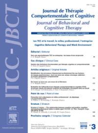 Addiction Autres addictions comportementales - Cybersexualité addictive et thérapie comportementale et cognitive