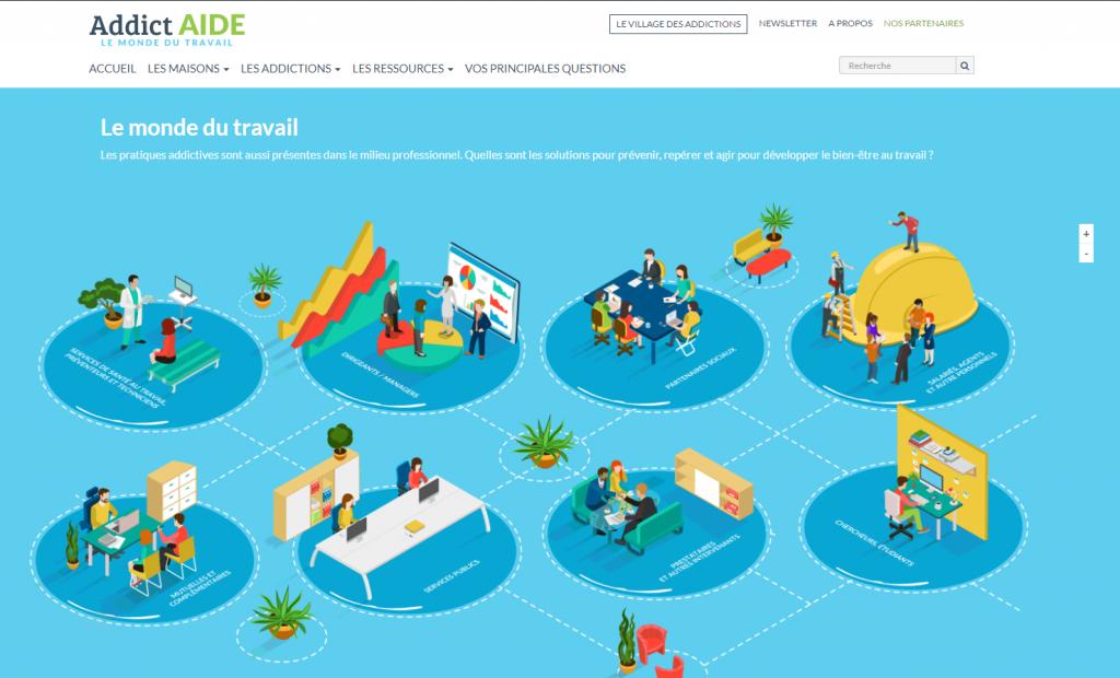 Addiction  - Addictaide.fr/travail Un nouveau site pour les addictions en entreprise : découvrez le mode d'emploi du portail