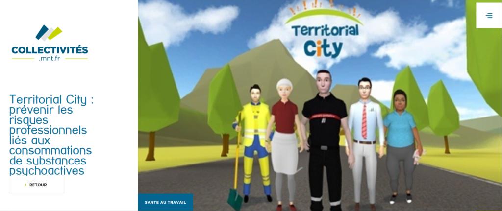 Addiction Alcool - Territorial City : un serious game pour prévenir les conduites addictives et contribuer à la santé au travail dans les collectivités