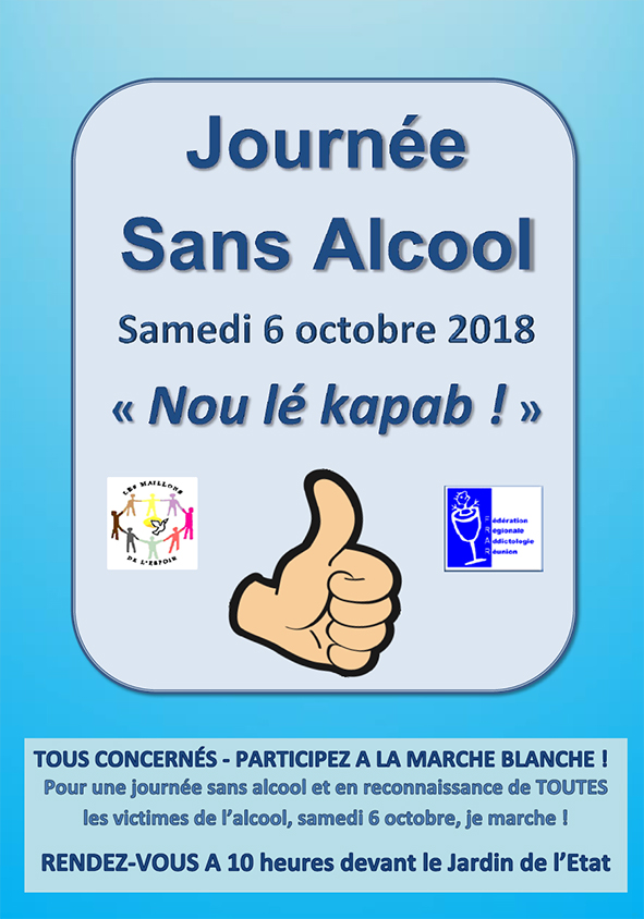 Addiction Alcool - Le Fonds Actions Addictions soutient la journée sans alcool et la marche blanche à la réunion