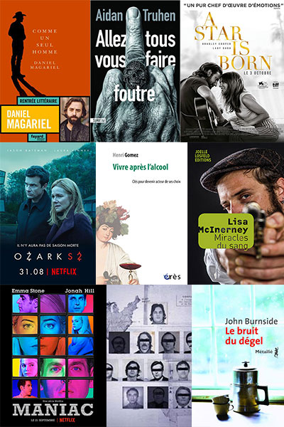 """Addiction  - """"Mais aussi…""""  Cinéma, littérature, essais des 3ème et 4ème trimestres 2018"""