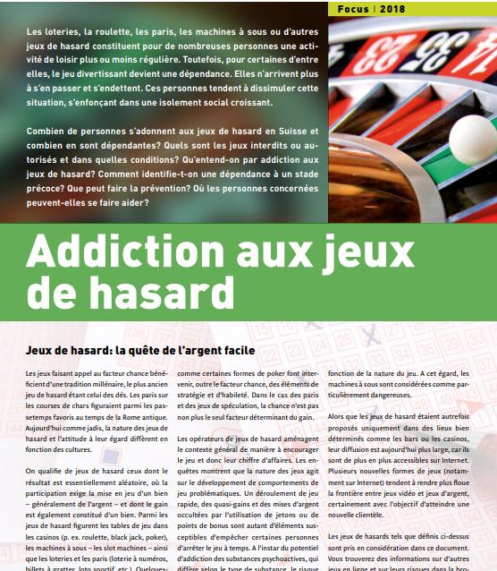 Addiction Jeux de hasard et d'argent - Addiction aux jeux de hasard