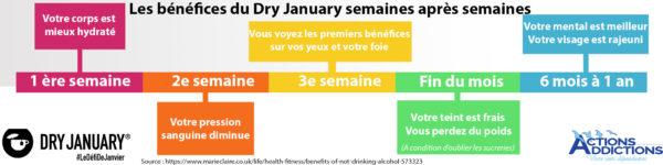 Telecharcharger l'infographie des bénéfices de dry january semaines après semaines